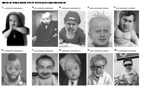 Identify the famous person from the mocked up baby photos
