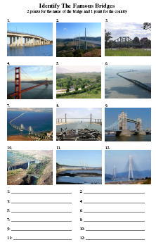 Famous Bridges Picture Quiz
