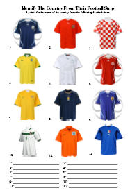 football strips Picture Quiz