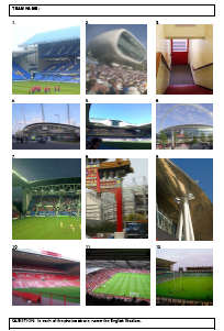 Identify the famous English stadiums from the photos