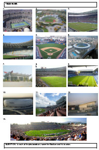 Identify the famous stadiums from the photos