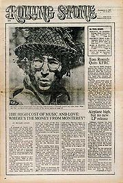 First issue of Rolling Stone Magazine featuring John Lennon